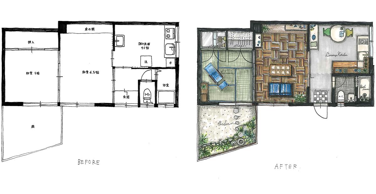 デザインプラン-Pari's apartment-1950style