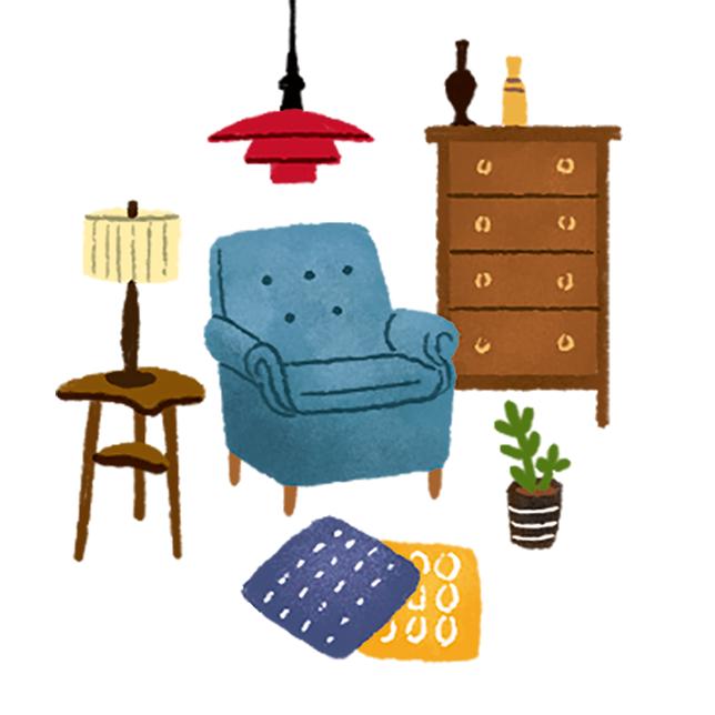 家具や小物まで一式プロデュース